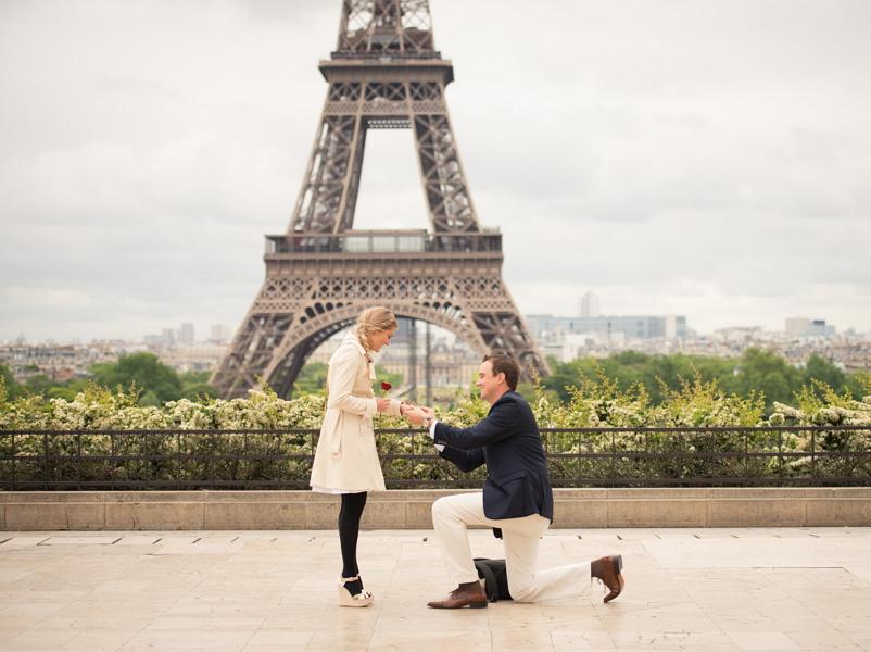 Как сделать предложение в париже