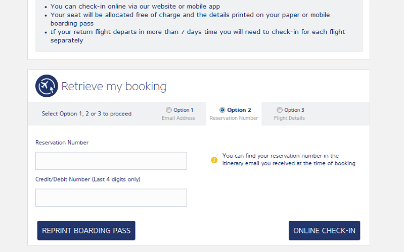 ryan air online check in