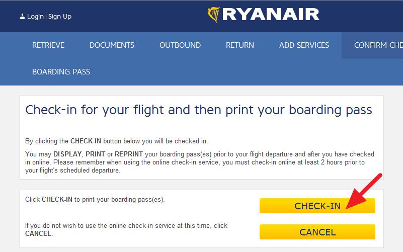 ONLINE CHECK-IN RyanAir 5