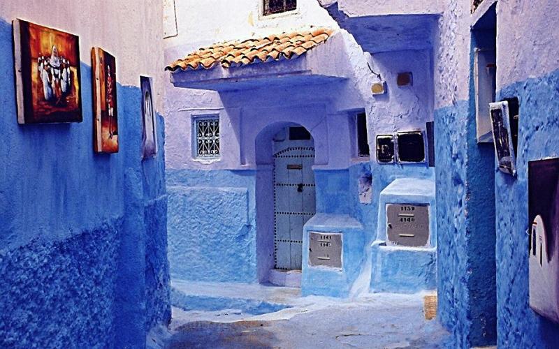 Синий город в Марокко 2