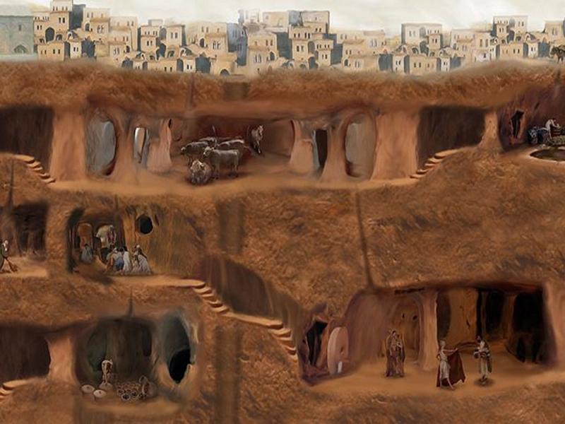Подземный город в Турции 3