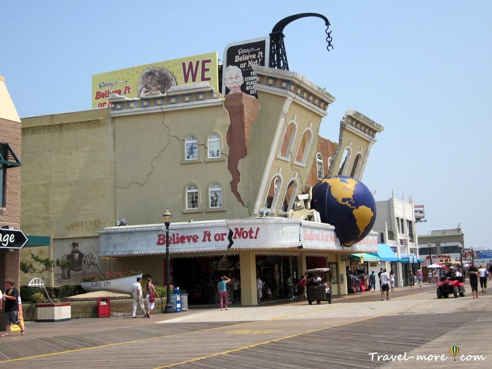 Атлантик-Сити Бордволк Atlantic City boardwalk