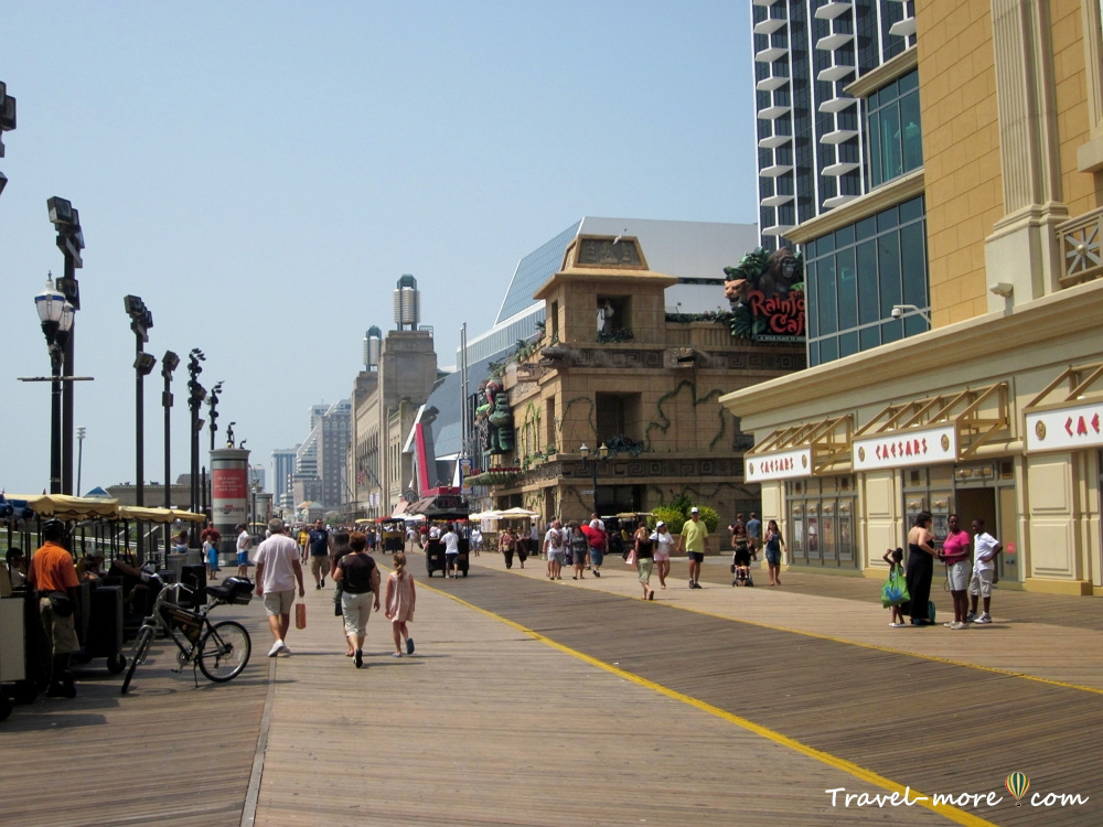 Атлантик-Сити Бордволк Atlantic City boardwalk