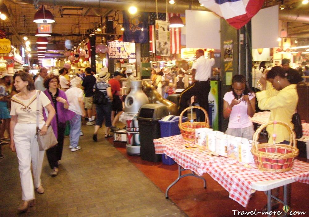 Фермерский рынок Филадельфии (Reading Terminal Market)