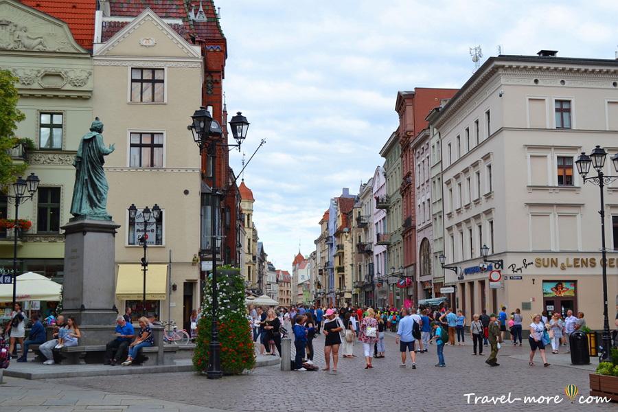 Торунь Старый город пешеходная улица