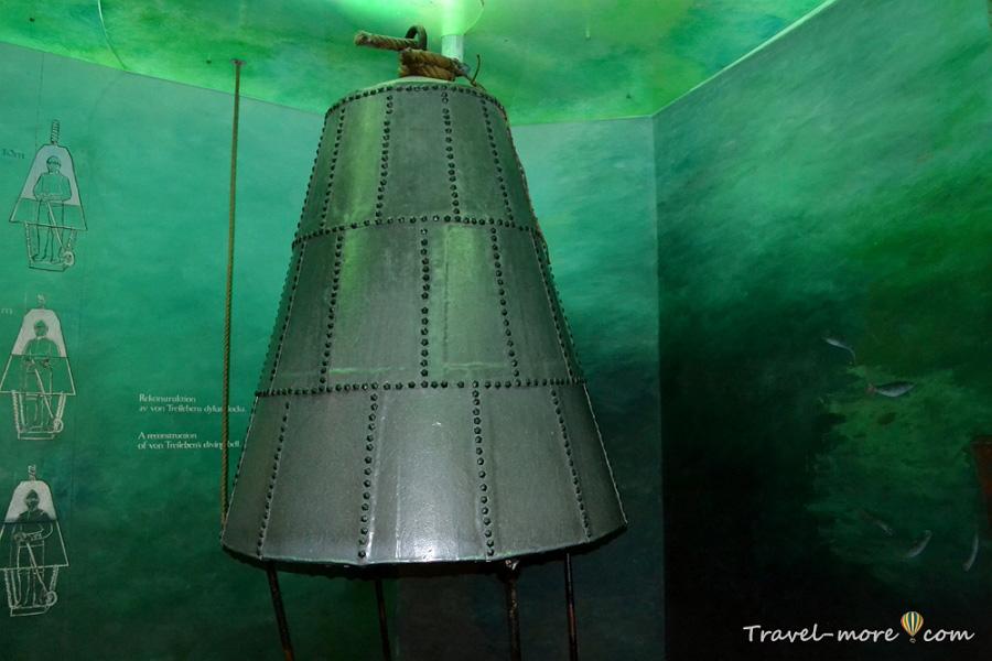 Музей Васа в Стокгольме водолазный колокол