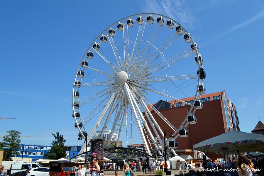 Гданьск колесо обозрения AmberSky