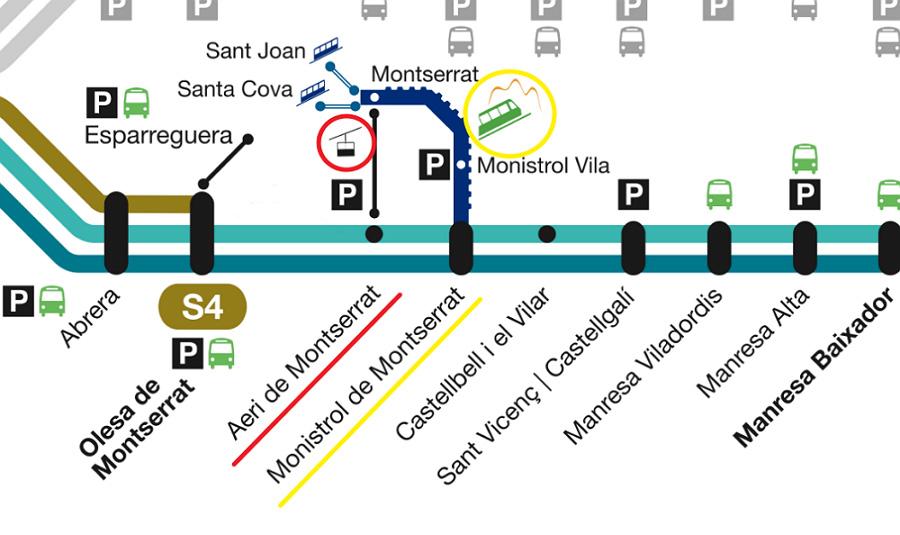 Как добраться до горы Монтсеррат из Барселоны