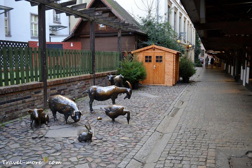 Улица мясников во Вроцлаве (памятники животным)