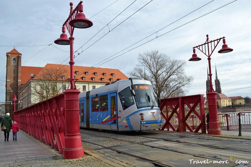 Красный мост Вроцлав