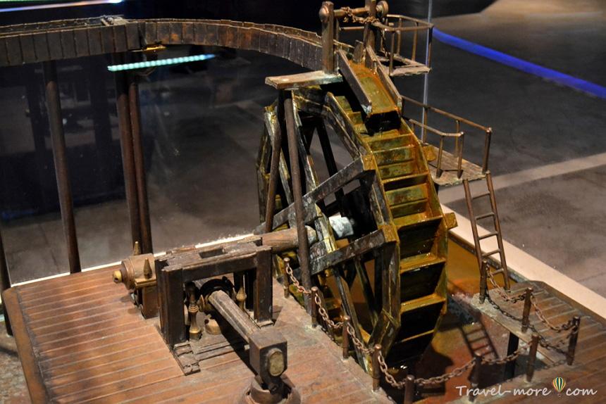 Водяное колесо, музей Гидрополис
